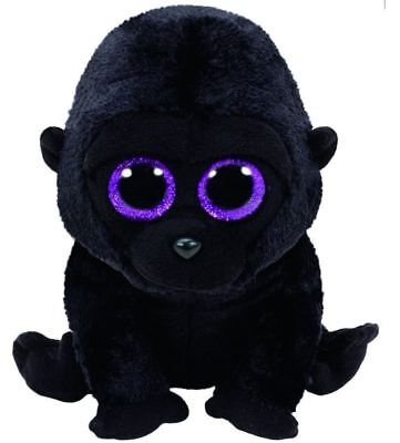 """'NEW Ty Beanie Boo George the Black Gorilla 6"""" Soft Plush Cuddly Collectible"""