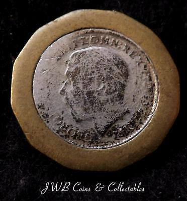 1942 Brass Threepence With Inlaid Silver Threepence