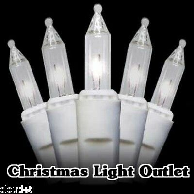 50 Mini Clear/White Christmas Wedding Outdoor String Hobby Lights 12ft Wire