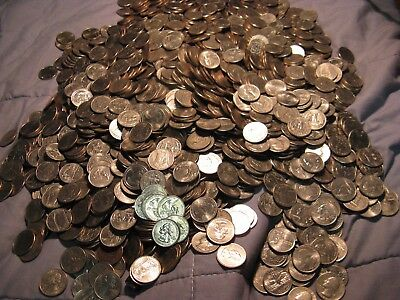 Huge Lot Of 2100 Usa Old New Mix 1965 To 2000's  +State Quarters Unsearched