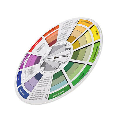 Artist's Color Wheel Paint Color Mixing Guide and Harmony Wheel Match Chart