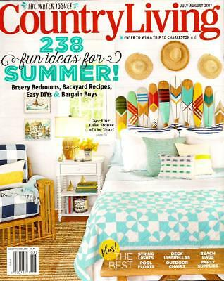 COUNTRY LIVING Magazine: 2017 Water Issue: Home Decorating,nautical,watercolors