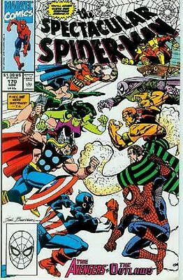 Peter Parker Spectacular Spiderman # 170 (Avengers x-over) (USA, 1990)