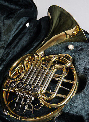 Yamaha Double French Horn YHR567 With Case And Mouthpiece EXCELLENT CONDITION