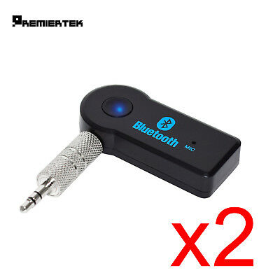 2PK Wireless Bluetooth 3.5mm AUX Audio Stereo Music Home Car Receiver Adapter