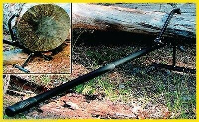 Woodcutters Log Lift-Cant Hook,Turn & Lift Logs,All Steel,Removable Stand,51'L