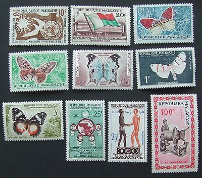 10 mint Malagasy stamps