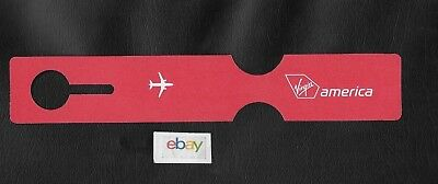 Virgin America A320 Luggage Tag/address Label Unused