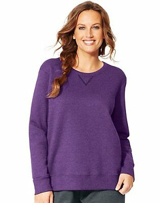 Just My Size ComfortSoft EcoSmart V-Notch Crewneck Women's Sweatshirt