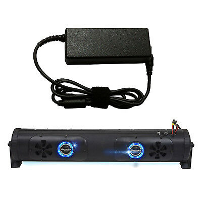 """Bazooka 24"""" Double Sided Bluetooth Party Bar w/ LED, 7 Amp AC to DC Adaptor"""