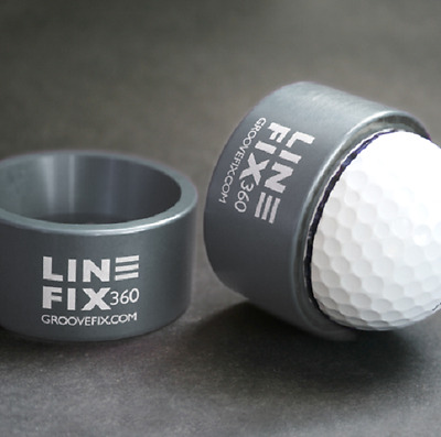 New Groovefix Golf Linefix 360 Ball Marker Marking & Alignment Tool - Gun Metal