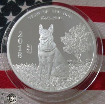 2018 Year of the Dog 1 oz .999 Fine Silver Round