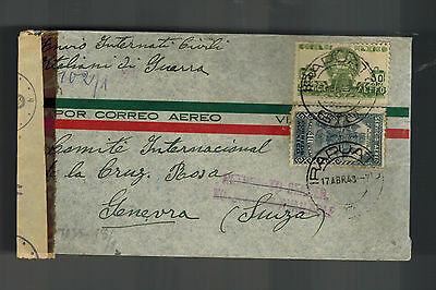 1943 Irapuato Mexico Internment Camp Dual Censored Cover Italian Prisoner