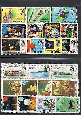 STAMPS DOMINICA 1970s SELECTION OF STAMPS (MNH)  lot A99