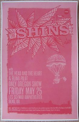 THE SHINS 2012 Gig POSTER Bend Oregon Concert