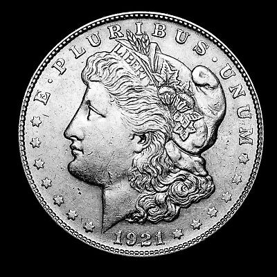 1921 S ~**ABOUT UNCIRCULATED AU**~ Silver Morgan Dollar Rare US Old Coin! #643