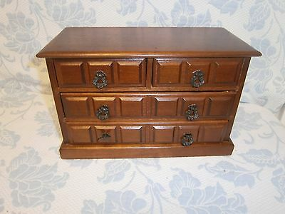 Vintage Price Imports Wooden Music Jewelry Box 4 Drawers Plays Love Story