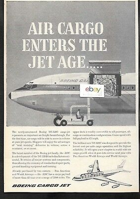 Boeing 707 -320C Cargo Jet Enters The Jet Age 1962 Ad
