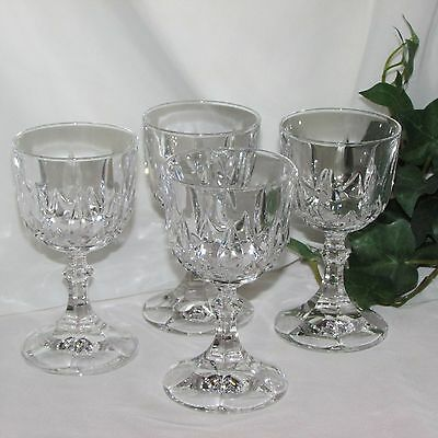 """CRYSTAL GOBLETS WINE GLASSES SET OF 4 BEAUTIFUL ELEGANT 5"""" TALL 4 ounces"""