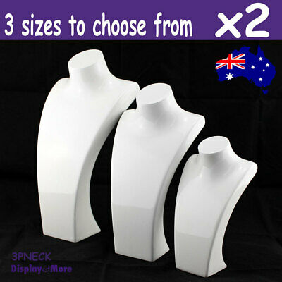 2X Necklace Display Bust | 3 sizes to choose | Porcelain White | AUSSIE Seller