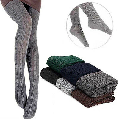 Fashion Women Tights Knit Winter Pantyhose Tights Warm Cotton Stockings 6 Colors