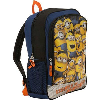 """Despicable Me Assemble the Minions 16"""" Kids Boy Girl School Bag Backpack NEW"""