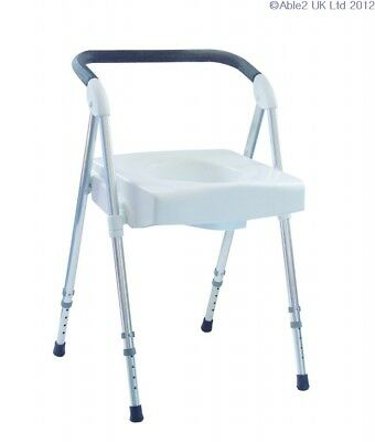 Voyager Folding Commode - Lightweight & Height Adjustable