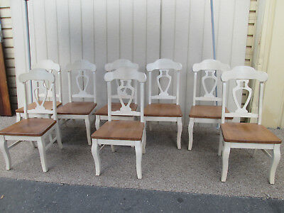 00001 Set Of 8 Country Dining Room Chair s