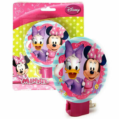 Disney MINNIE MOUSE DECORATIVE PLUG IN W BULB Night Light Lamp GIRLS ROOM BATH