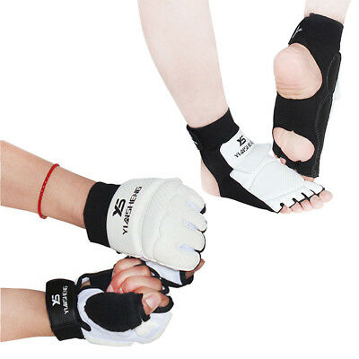 Adult/Kids Half Taekwondo Gloves Sparring Boxing Hand Foot Protector Cover Guard