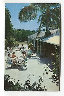 Bahamas - Pink Sands Lodge, holidaymakers - 1958 used postcard