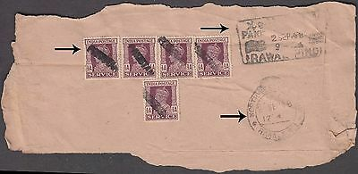Pakistan 1950 Rare Meter Franked Well Travelled Redirected Cover To Switzerland