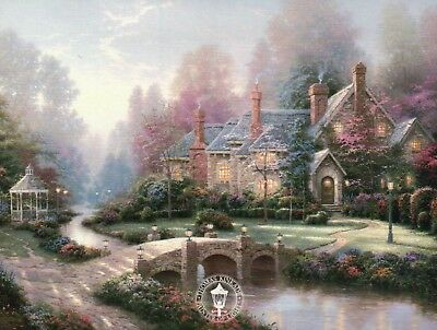 Beyond Spring Gate - Painter of Light Art Card -- Thomas Kinkade Dealer Postcard