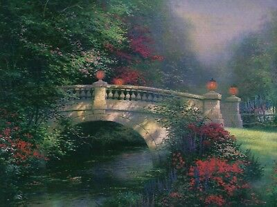 The Broadwater Bridge, Thomashire -- Art Card --- Thomas Kinkade Dealer Postcard