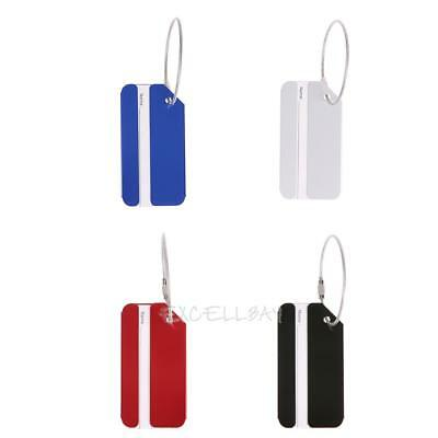 Aluminium Metal Travel Luggage Tag Baggage Suitcase Bag Name Address Label