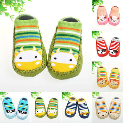 Cute Baby Kids Cartoon Shoes Animal Toddler Indoor Anti-slip Slipper Socks Shoes