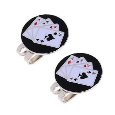 Golf Ball Marker Magnetic Hat Clip Individual Cute Cap Clip Gift Poker Card