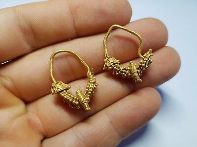 Greek Gold Filigree Earring Pair 5th-3rd century BC