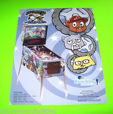 Orange County Choppers Occ Pinball Machine Flyer Ultimate Golf Ball Frenzy 2007