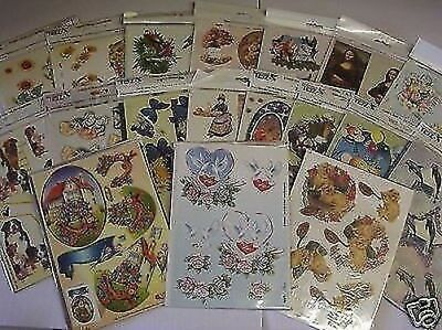 TBZ Card Making Set 50 Assorted Packs 3D Decoupage Sheets Cards and Envelopes