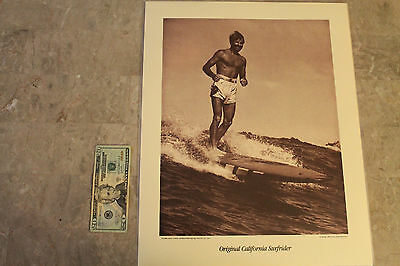 Vintage Surfing Tom Blake Cove 1947 Balsa Original Doc Ball 16x20in. POSTER