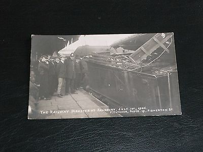 Original Real Photo Postcard - Railway Disaster At Salisbury - July 1St 1906.