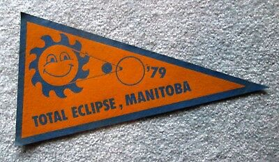 Total Eclipse 1979 Manitoba Souvenir Travel Pennant lsc12