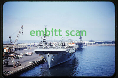 Original Slide, U.S. Navy Aircraft Carrier at San Diego, late 1950s