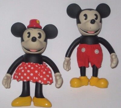 MICKEY MOUSE & MINNIE MOUSE Posable RETRO COLLECTION Figures by SCHYLLING