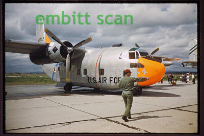 Original Slide, USAF Fairchild C-123B Provider at Geiger Field, 1961