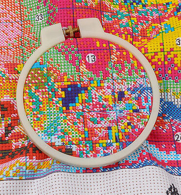 1Pc Sewing Hoop Ring ABS Handy Cross Embroidery Sewing Hoop Ring Pop UK