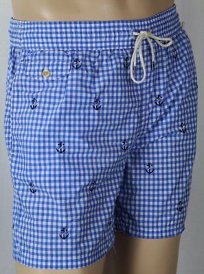 Lauren Ralph Mens Polo Swim Nautical Large Trunks Shorts Embroidered w8n0OPk