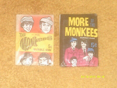 Monkees TWO PACKAGES--BUBBLE GUM CARDS ('67) SEALED (1st Series, More Of)