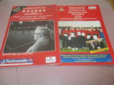 2  Doncaster  Rovers  2001  //  Kingstonian  //  Hallam  [ Cup]